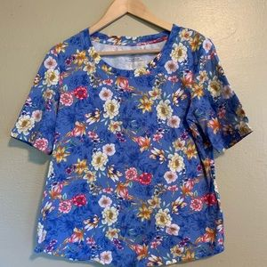 Talbots | Floral Knit Top | Large L
